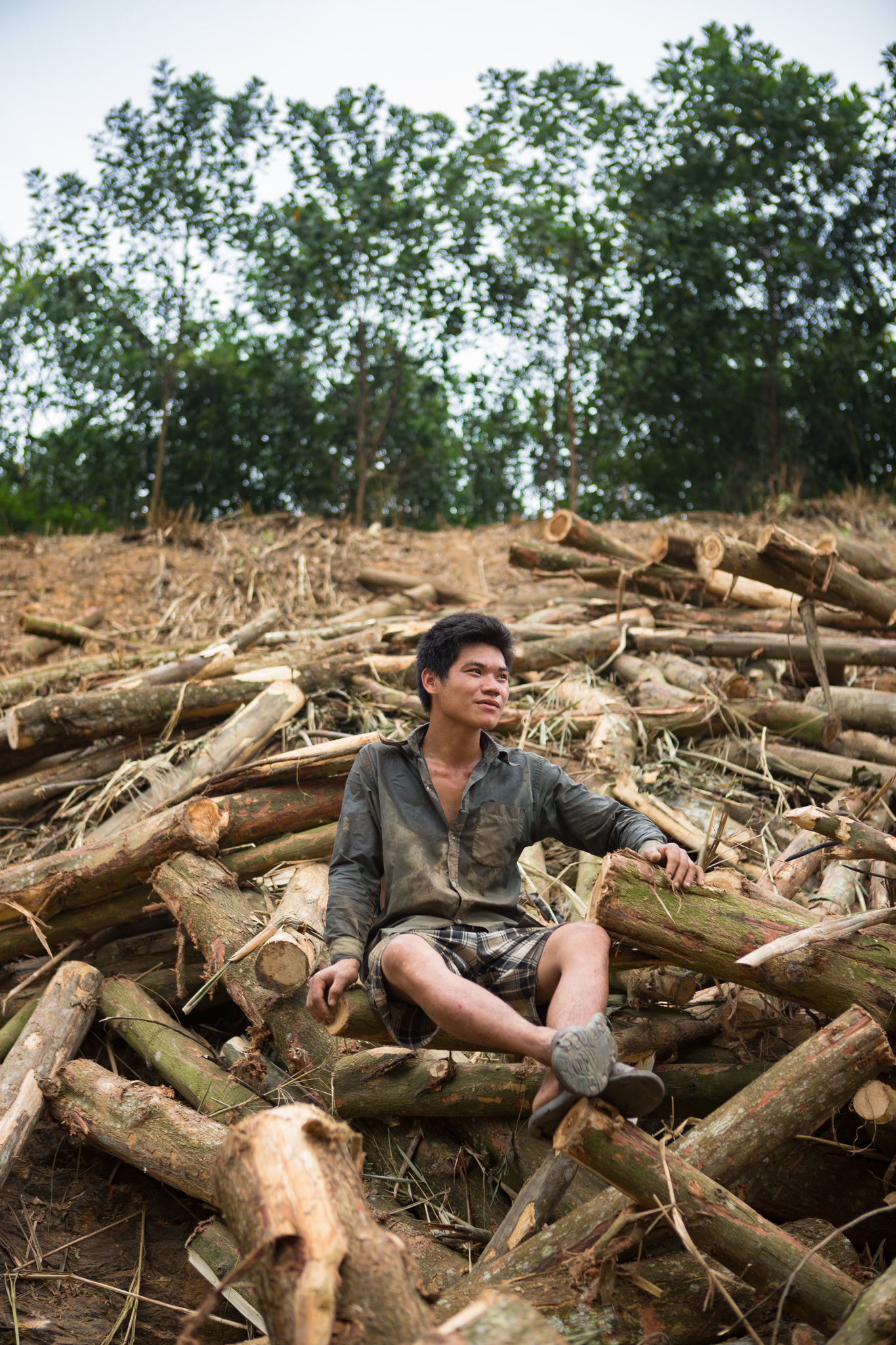 Travel Portrait of a Logger in the rural countryside of Vietnam for World Bank | Hanoi Photographer