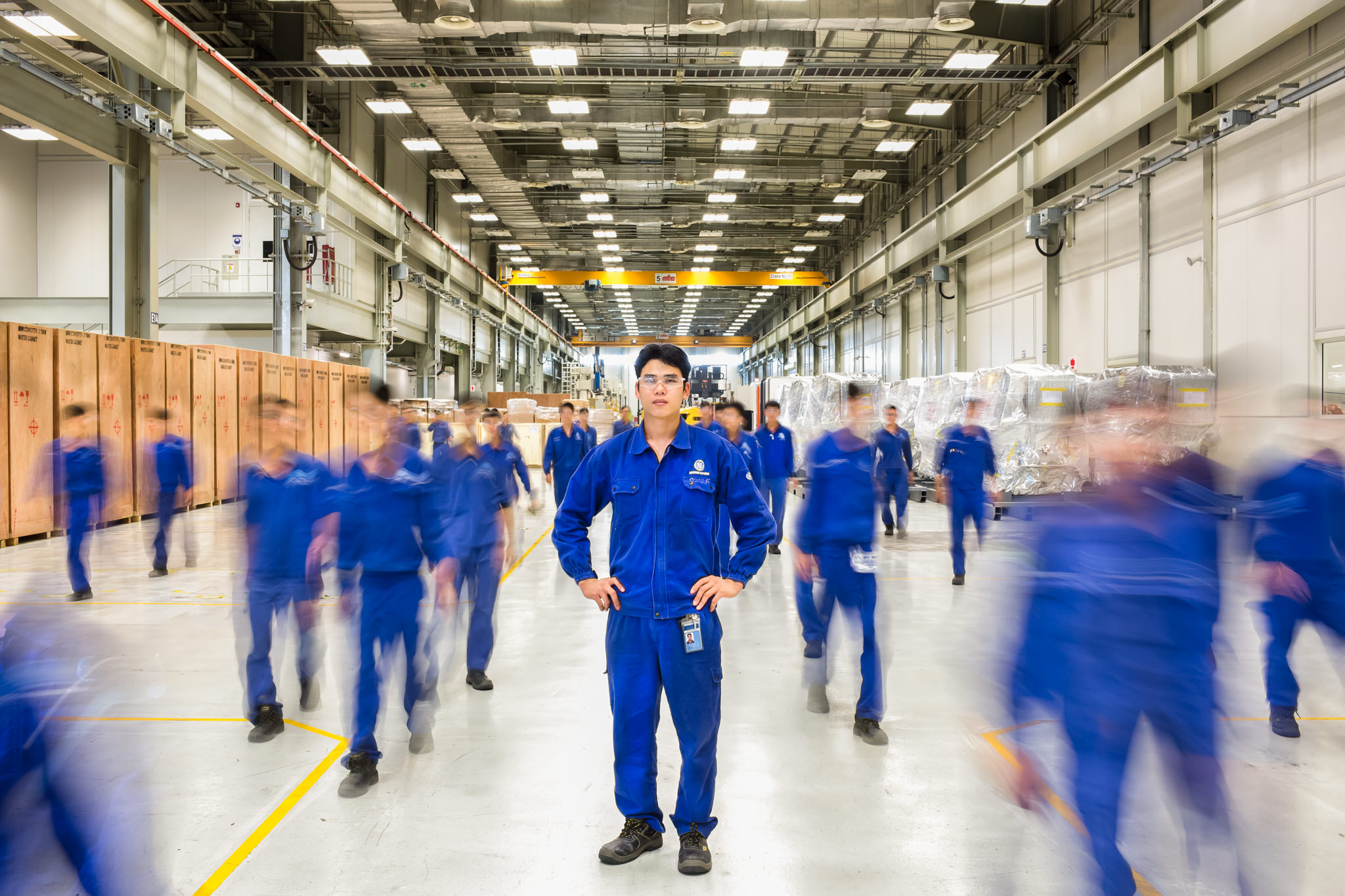 Corporate Portrait Photography at the GE factory in Hai Phong Vietnam for General Electric's Annual Report | Hanoi Photographer